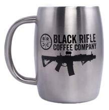 Black Rifle Coffee Mugs Silver Stainless Steel
