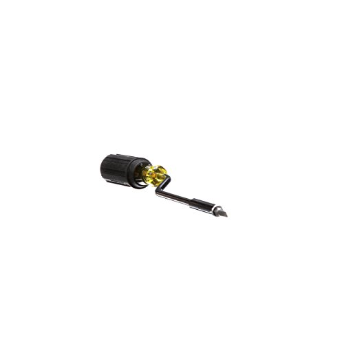 Klein Tools 67100 Multi-Screwdriver Set, 2-in-1 Interchangeable Rapi-Driv Screwdriver with Phillips and Slottd Bits