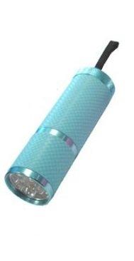 Blau–9LED Glow in the Dark Taschenlampe, Gummi Grip, Schlüsselband, + GRATIS Batterien, Kinder Geschenke