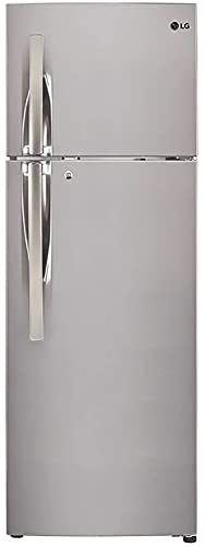 LG 308 L 3 Star Frost Free Inverter Double Door Refrigerator(GL-T322RPZX, Shiny Steel, Convertible)