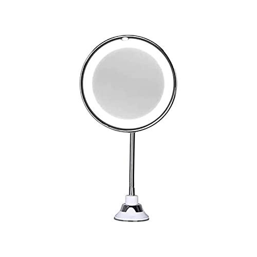 WGLL Espejo de Maquillaje de Cuello de Cisne Flexible Ajustable, rotación de 360 ° Escritorio portátil Espejo de tocador con Ducha Espejo cosmético