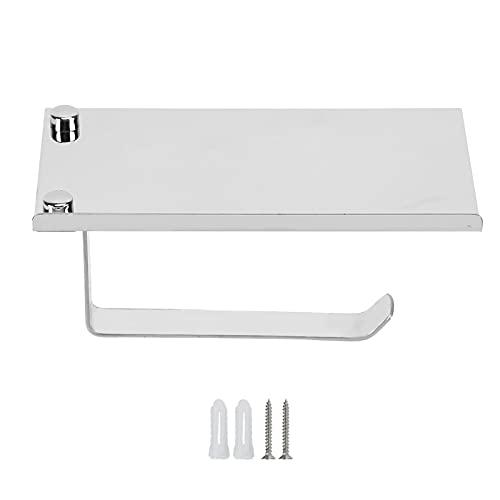 Portarrollos de papel higiénico, antióxido, resistente al agua, montado en la pared, acero inoxidable 304, portarrollos de papel higiénico, portarrollos con estante impermeable para baño(espejo)