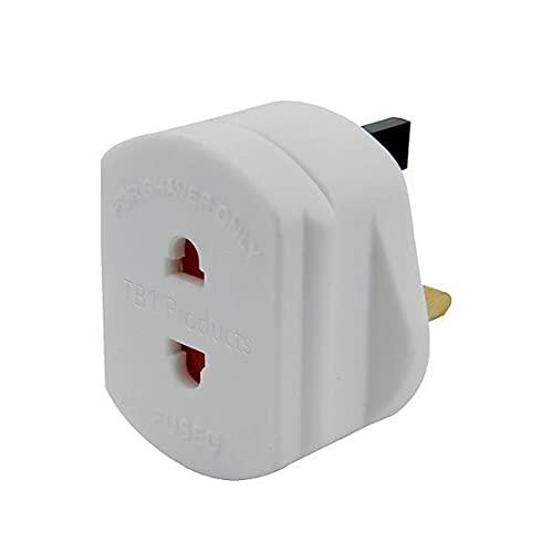 Universal UE 2 PIN a Reino Unido 3 Pin Pin Travel Travel Adaptador blanco Convertidor Afeitadora Adaptador Enchufe para enchufes de baño Oficina Electrónica