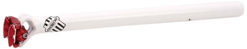 MSC Bikes MSC 30.9 mm 400 mm. Alu2014T6. Straight - Tija de sillín de Ciclismo, Color Blanco/Rojo