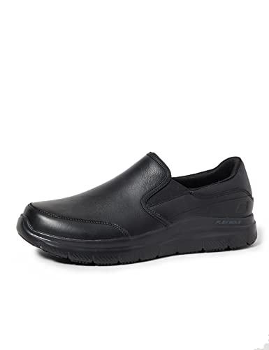 Skechers Flex Advantage SR, Sneaker Infilare Uomo, Nero (Black Blk), 39.5 EU