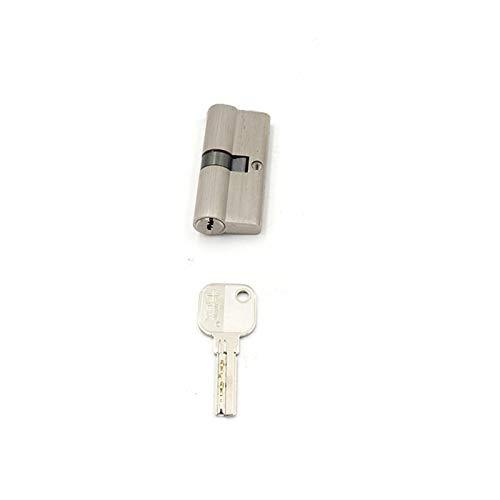 NGHSDO Bombin Cerradura Cilindro 55 60 70 80 90 mm Cerraduras de Seguridad de Doble Cilindro de Doble Cilindro de latón 5 (Color : 1 Cylinder with1 Key, Cylinder Size : 60mm)