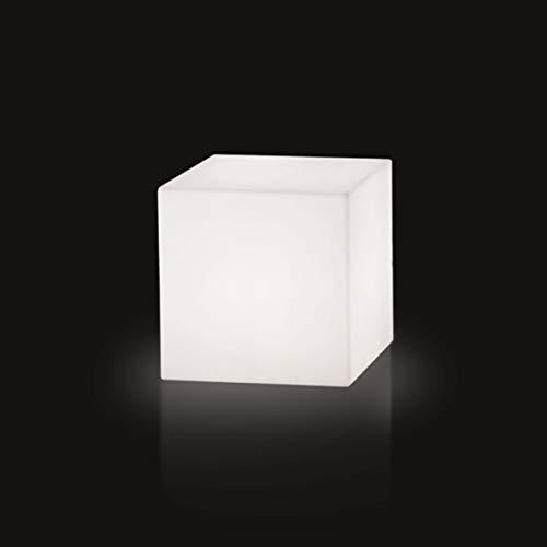 Slide Cubo Outdoor Lampe de Sol H.73 cm Blanche brillante