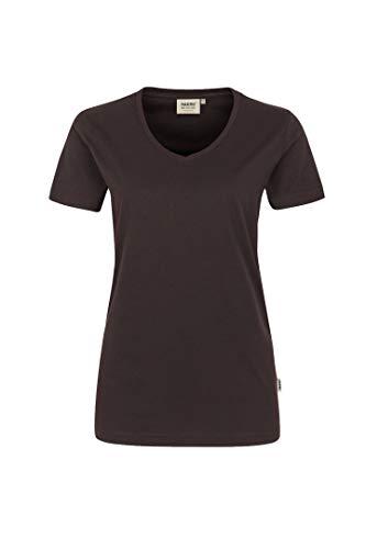 HAKRO Damen T-Shirt Performance - 181 - chocolate - Größe: XXL
