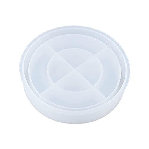 YUSHU Molde de resina epoxi de cristal posavasos Bandeja de frutas Molde de silicona DIY Artesanía hecha a mano Estera de taza Herramienta para hacer almohadillas Kit de fabricación de joyas de resina