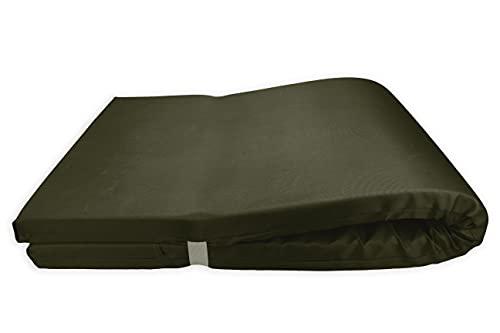 Colchón para Tumbona Impermeable. Cojín 180x60x6 Desenfundable, Cómodo y Elegante. Ideal para Jardín, Piscina, Playa, Terraza y Balcón. (Verde Militar, 2)