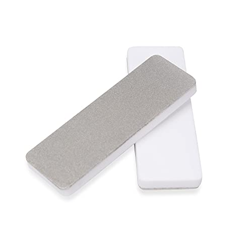 DMD Mini Double Side Whetstone-Diamond Ceramic Pocket Knife Sharpener | Outdoor Knife Sharpener | Portable Diamond Abrasive Tools | Good Partner for Various Outdoor Activities