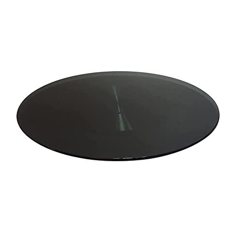 MIZP Giradischi Lazy Susan, vassoio da portata girevole, piatto da portata girevole a 360 ° per hotel ristorante di casa/Black / 90cm/35.4in