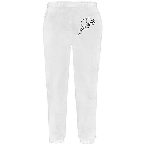 Azeeda Extra Groß 'Niedlicher Spitzmaus' Grau Joggeurs adultes / Pantalons de survêtement / Fonds (JO00004112)