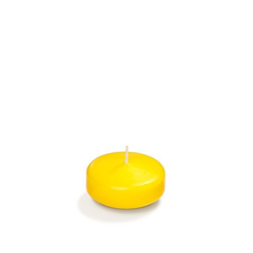 Yummi 2.25' Bright Yellow Floating Candles - 6 per Pack