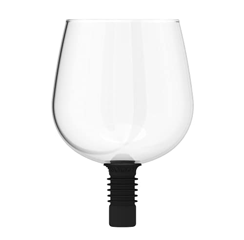 Guzzle Buddy The Ultimate Wine Glass, Decanter, Stopper, Cup, All-in-One, Safe & Easy Way to Enjoy Alcohol, Bar Accessories, Plug it and Chug it, Red or White