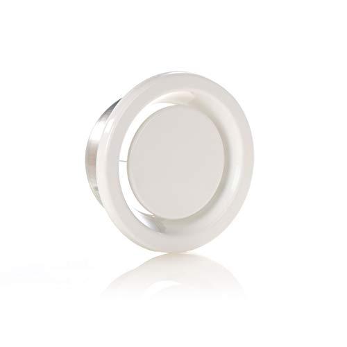 Lüftung Abluftventil Tellerventil DN 125 mm weiß rund ZL00411