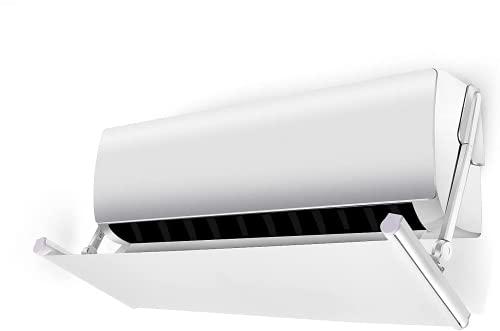 Deflettore per Condizionatore , non fa condensa non è necessario alcun attrezzo per Home Office (Bianco)