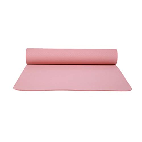 Outeck Yoga Mats Non Slip 1/4 Inch Thick - Premium Exercise Fitness Mat for All Types of Yoga, Pilates & Floor Workouts K826 (Pink)