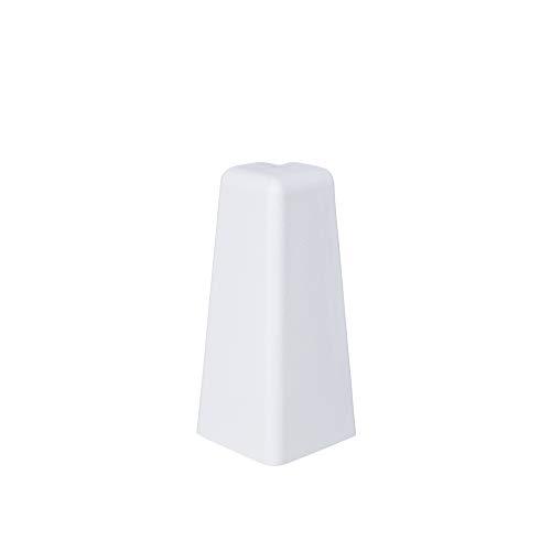 Innen- und Außenecken, Verbinder und Abschlüsse für Sockelleisten 60mm - Weiß Außenecke