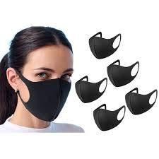 6 Stück schwarze wiederverwendbare Gesichts-Mundschutz waschbar Staub-Gesichtsbedeckung Unisex für Motorrad Fahrrad Laufen Radfahren und Outdoor-Aktivitäten