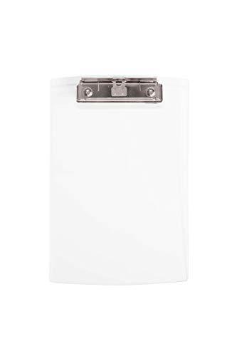 Maul Schreibplatte, Klemmbrett, DIN A5 hoch, Acryl, 8 mm Klemmweite, 3 mm Plattenstärke, Transparent