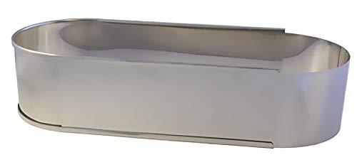 Cadre à Pâtisserie inox réglable ovale 27 à 40 *