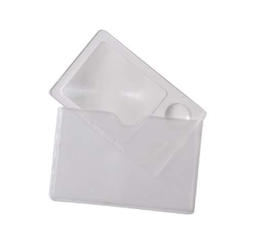 Leselupe/Lupe 2x/4x aus stabilem Acryl in Scheckkartenformat für die Geldbörse -Maße: 90 x 60 mm