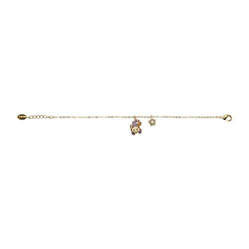 THUN - Bracciale da Donna con Segno Zodiacale Scorpione - Oroscopo - Gioielli Donna - Ottone Placcato Oro e Ceramica