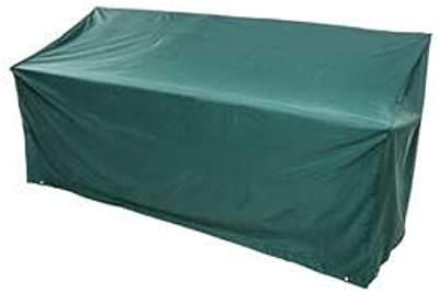 Plow & Hearth Outdoor Furniture All-Weather Cover for Bench, in Green