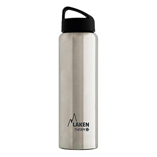 Laken Classic Botella Térmica Acero Inoxidable 18/8 y Doble Pared de Vacío, Unisex adulto, Plateado, 350 ml