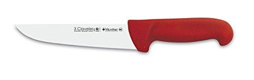 3 claveles Couteau de Boucher Proflex 18, Acier Inoxydable, Rouge, 31 x 2.5999999999999996 x 1.7000000000000002 cm