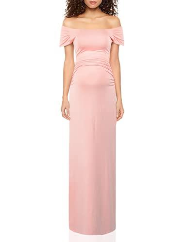 Women's Off Shoulder Short Sleeve Maternity Casual Maxi Dress