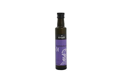 Kröpfel Mariendistelöl, kaltgepresst, nativ, 100% rein, Glasflasche, 250ml, A Qualität, aus Österreich