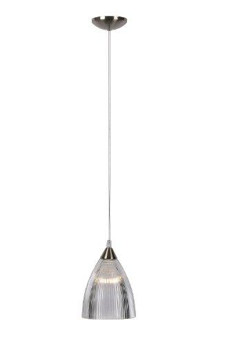 LUCIDE 16430/14/12 Rubi - Lampada a Sospensione in Vetro E14, Diametro 14 cm, Colore: Cromo