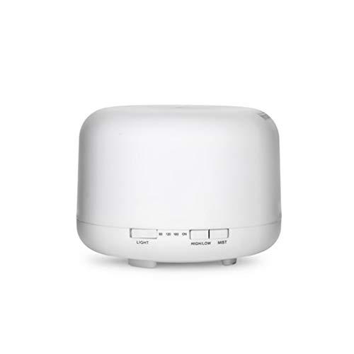 YuJum 500ml Luftbefeuchter Aroma Essential Oil Diffuser Nebel-Hersteller Humidificador LED-Nachttischlampe warmes Licht Runde AU Stecker