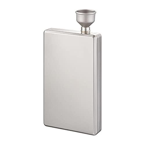 Hip Fles Alcohol Fles 100 ml Pure Titanium Vierkante Likeur Flesje Hip Flesje Draagbare Camping Reizen Hip Flask