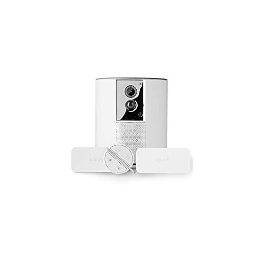 Somfy 1875249 - Somfy One + | Système d'Alarme avec Caméra de Surveillance intégrée Full HD | Sirène 90dB | Avec 2 détecteurs d'ouverture IntelliTAG et 1 badge télécommande | Volet vie privée