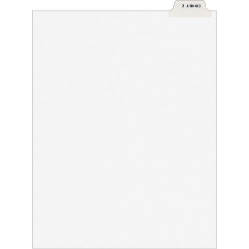 Avery Divider; Exhibit Z; Bottom Tab; 8-1/2'x11'; 25/PK; White