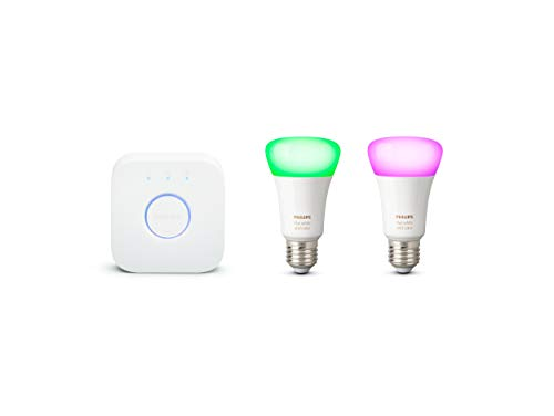 Philips Hue Pack de 2 Bombillas LED Inteligentes E27 y puente