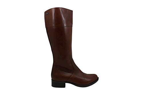 Rockport Womens First Street Leather Almond Toe Knee High, Brown, Size 6.0