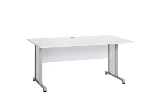 MAJA-Möbel 1221 8839 Schreibtisch, Icy-weiß, Abmessungen BxHxT: 160 x 75 x 80 cm