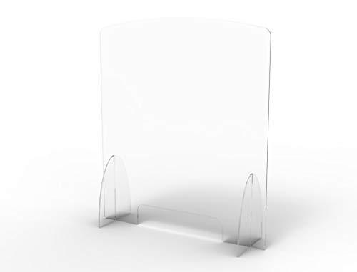 Schutzwand aus Plexiglas 5 mm Geldtrenner für die Sicherheit und den Schutz von Büros, Lebensmittelgeschäften, Tabak und Büromaterial (75x65) cm)