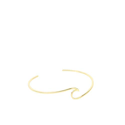 Pura Vida Gold Wave Cuff Bracelet Bangle - Gold Plated Brass Base - Adjustable M/L