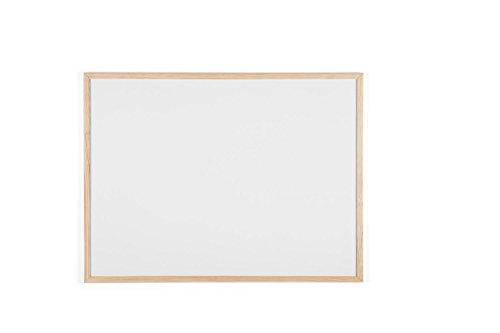 Bi-Office Budget - Pizarra blanca con marco de madera, 80 x 60 cm, no magnética