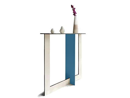 Stretta consolle moderna ingresso in molti colori Design sulla serie di Fibonacci e Sezione Aurea Fissa e piccola da parete Console moderne di legno Tavolo moderno da muro per soggiorno dietro divano