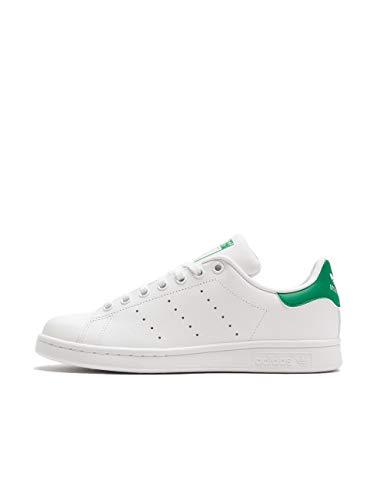 adidas Originals Adidas Stan Smith J M20605, Scarpe da Basket, Footwear White/Footwear White/Green, 36 EU