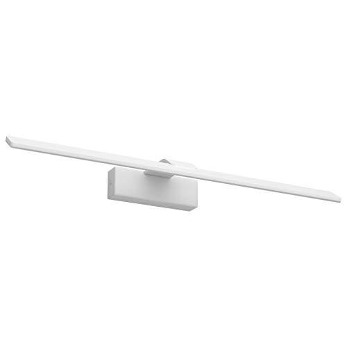 Klighten LED Badleuchte,18W 107 LEDs Spiegellampe Spiegelleuchte,Natürliches Weiß 4500K,Aluminium Badlampe,Schranklampe Aufbauleuchte,600mm,Weiß