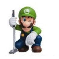 Nintendo Furuta Choco Egg Super Mario Sports Mini Figure~Luigi Golf