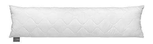 Traumnacht 3-Star Seitenschläferkissen, weich und bequem, aus softer Microfaser, 40 x 145 cm, waschbar, weiß