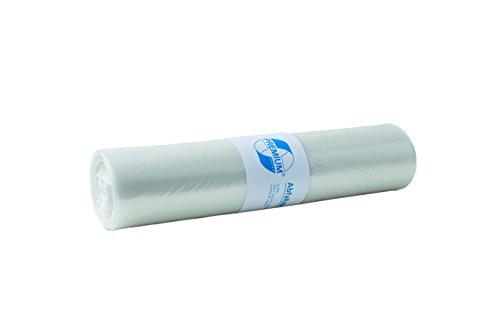 Deiss Premium - Sacchi della spazzatura, bianco o trasparente, da 70 o 120 litri, 120 Liter - Typ 60, trasparente, 1